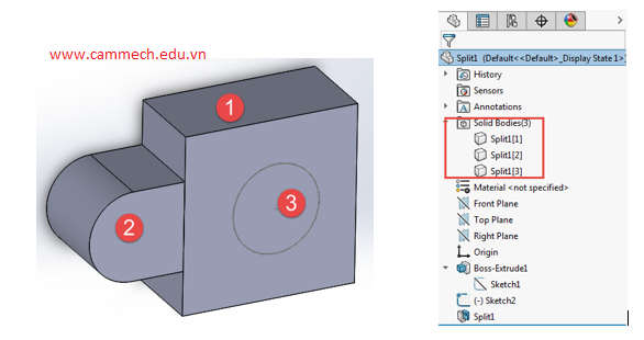 Split Solidworks