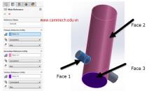 SolidWorks: Tạo ràng buộc lắp ráp  (Mate Reference) trong môi trường Part