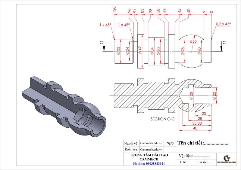 Bài Tập Lập Trình Tiện CNC Cơ Bản Đến Nâng Cao